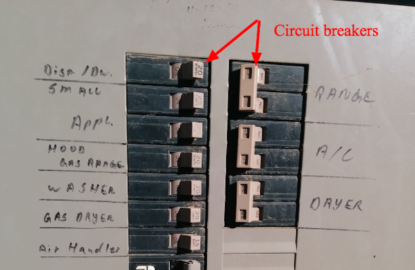 Example of a circuit breaker